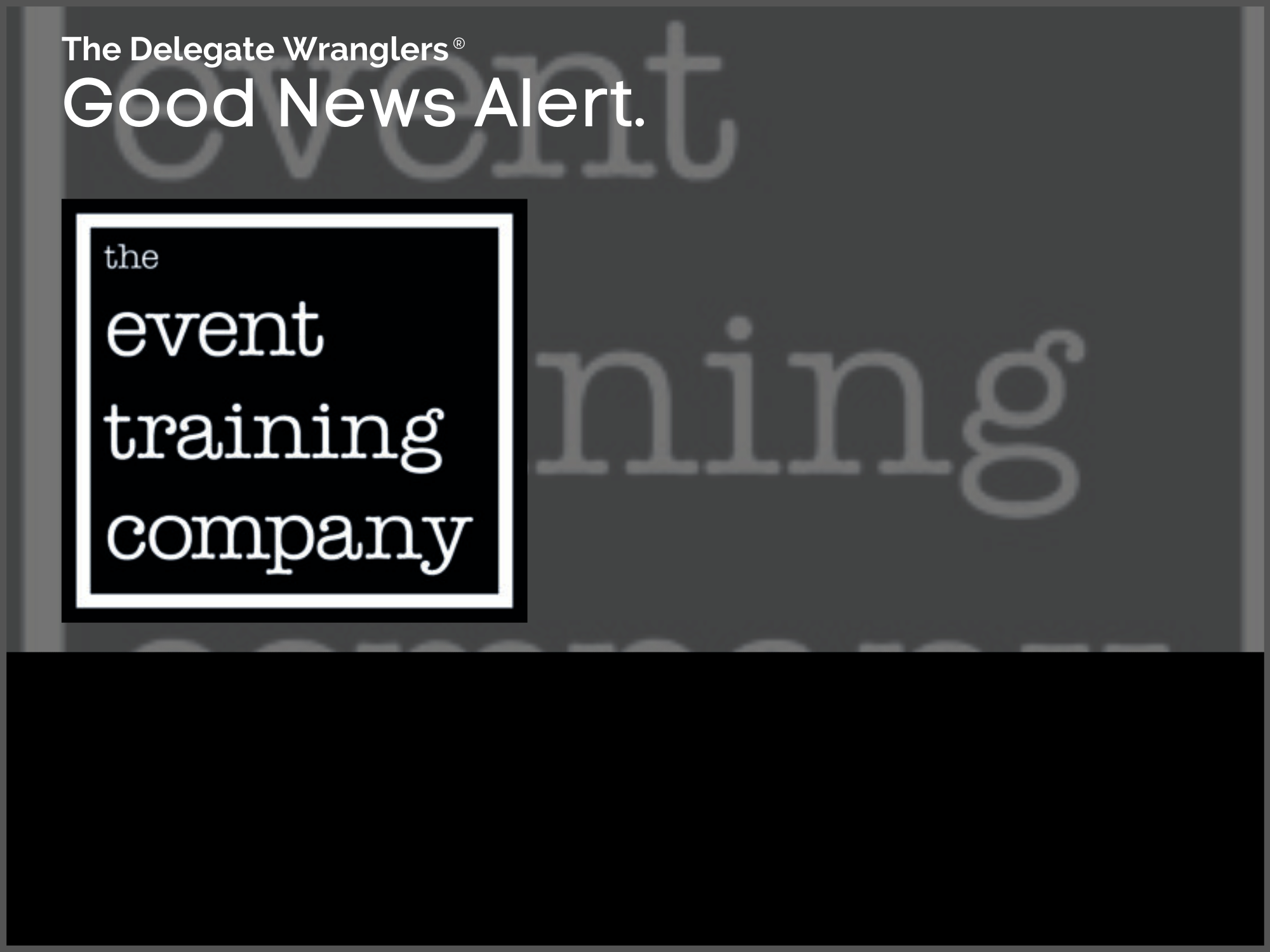 The Event Training Company helping event professionals to feel better and more confident