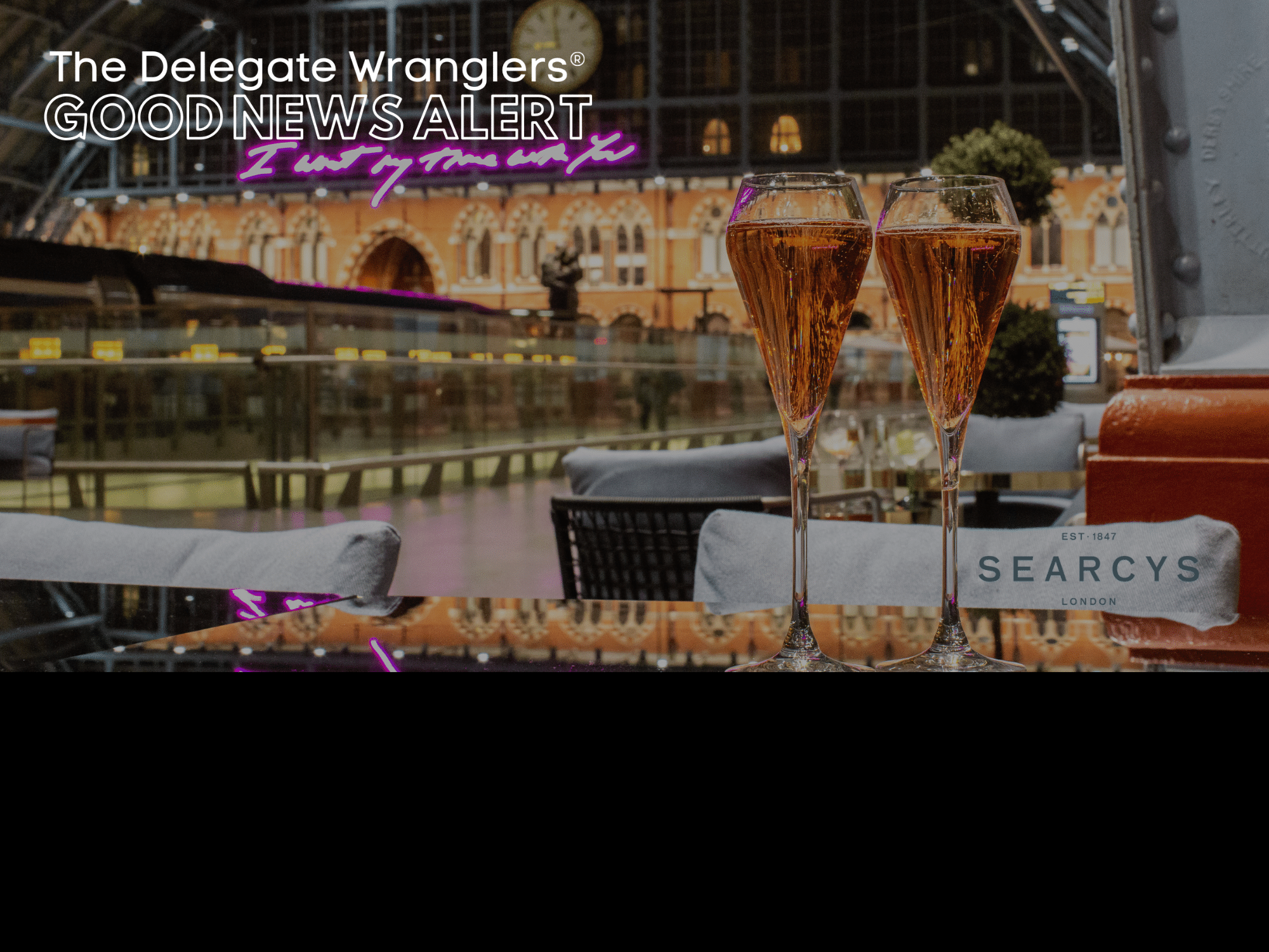 Searcys announced as Delegate Wranglers first Christmas Party sponsor