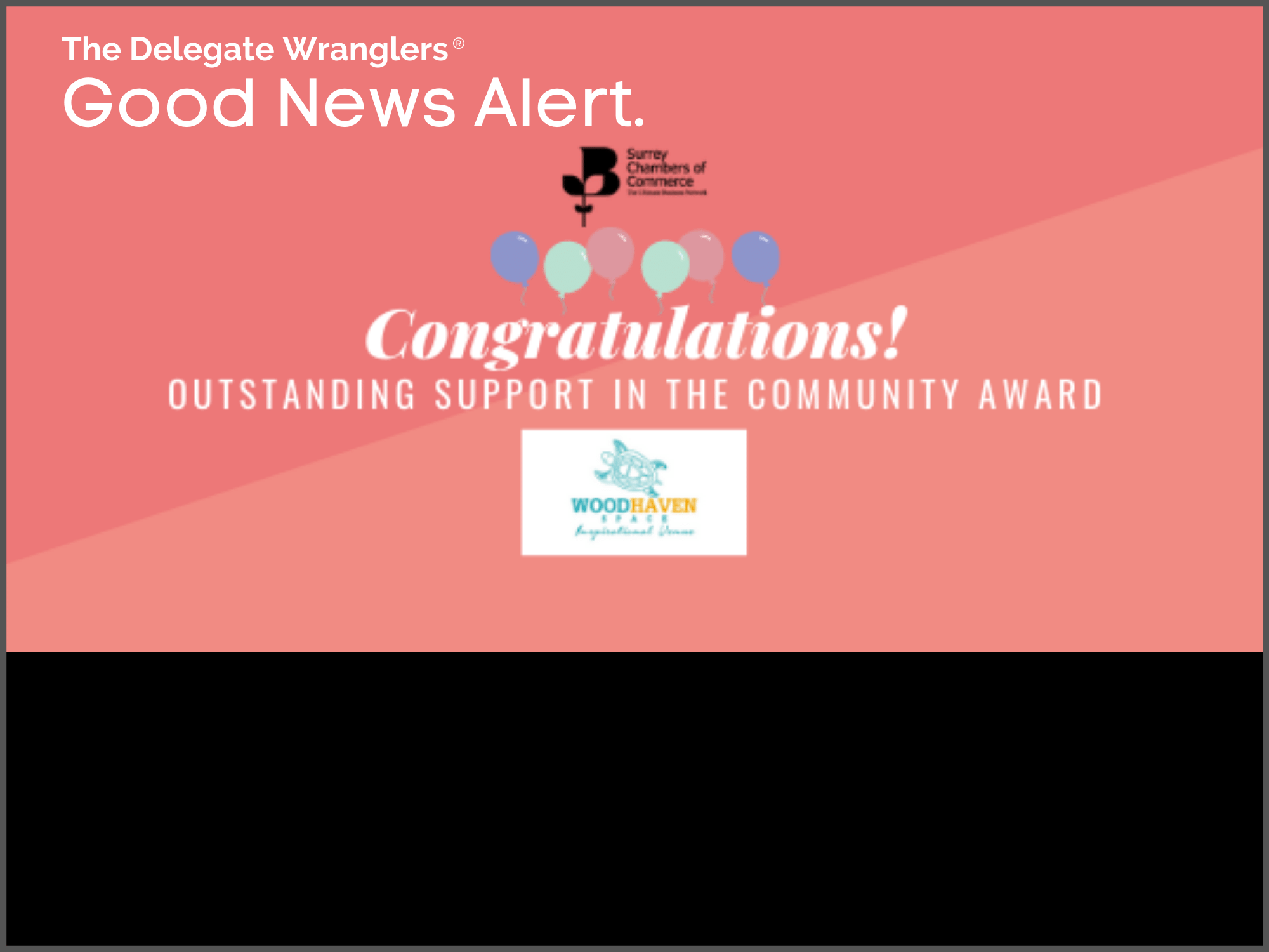 Woodhaven Space chosen for 'Outstanding Support in The Community Award'
