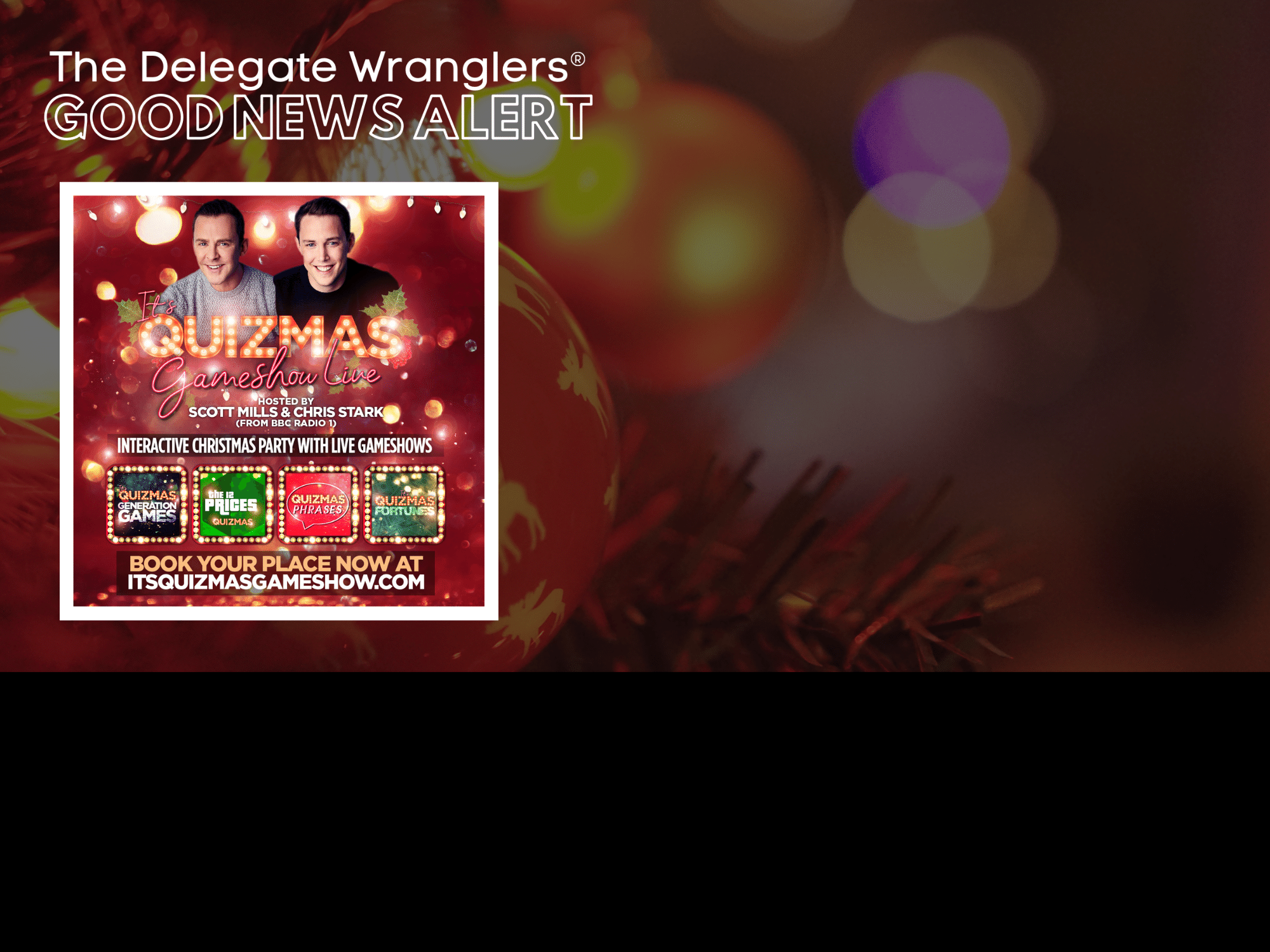 Earn some money before xmas - become a reseller for 'Its Quizmas Gameshow'