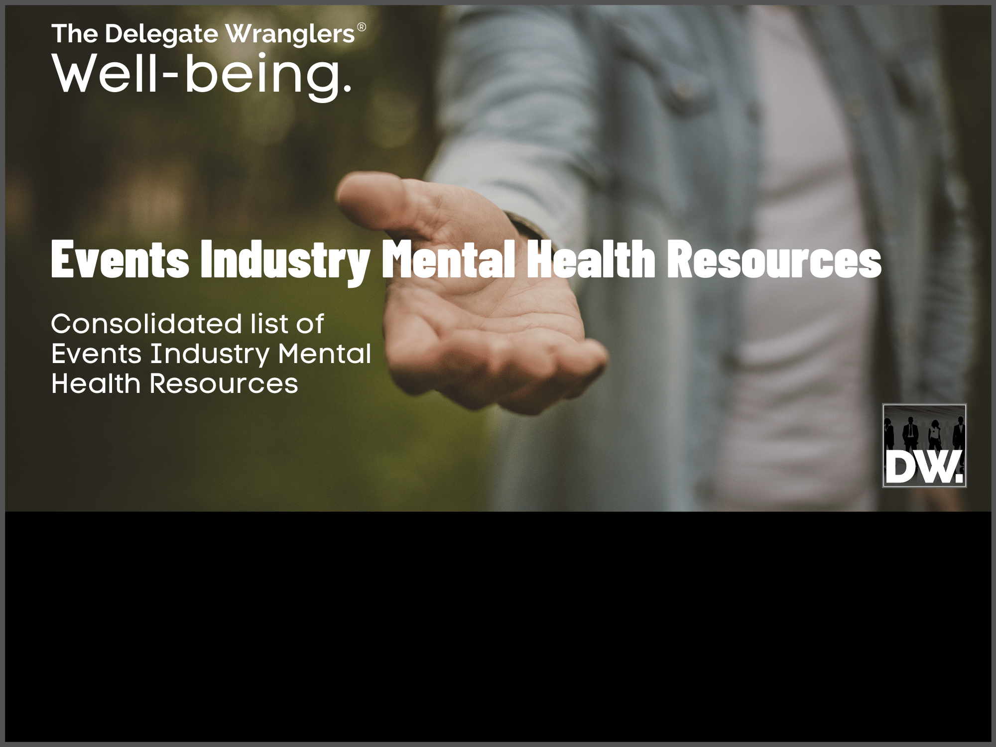 Free Events Industry Mental Health Resources Document