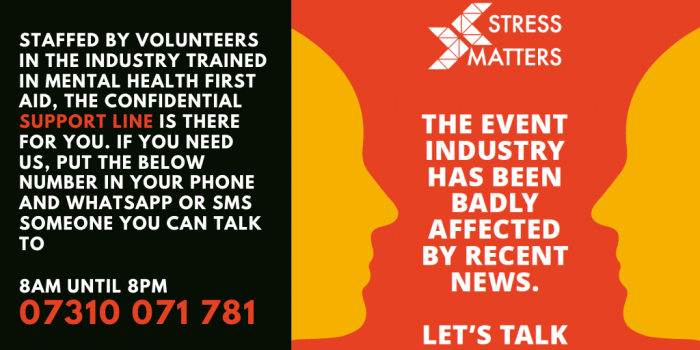 Stress Matters Launches Event Industry Support Line