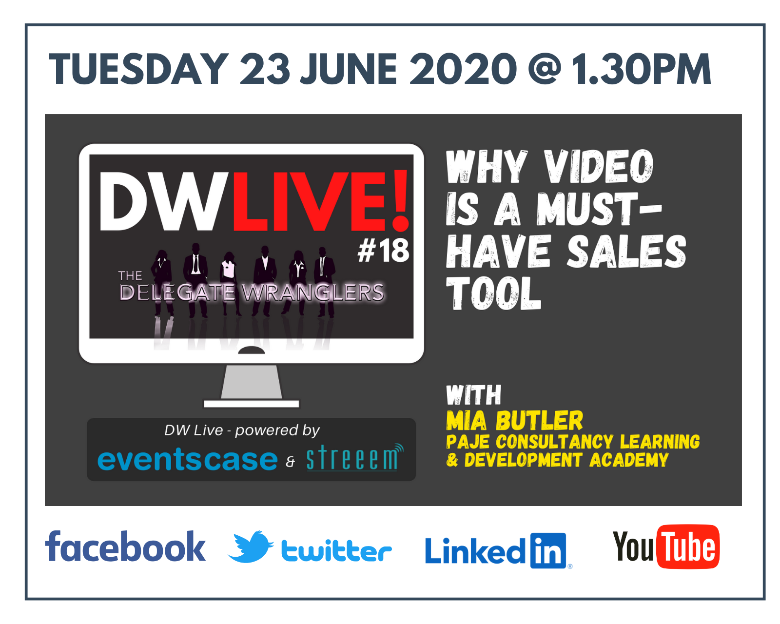 DW Live #18 - Mia Butler - Why Video is a Must-Have Sales Tool