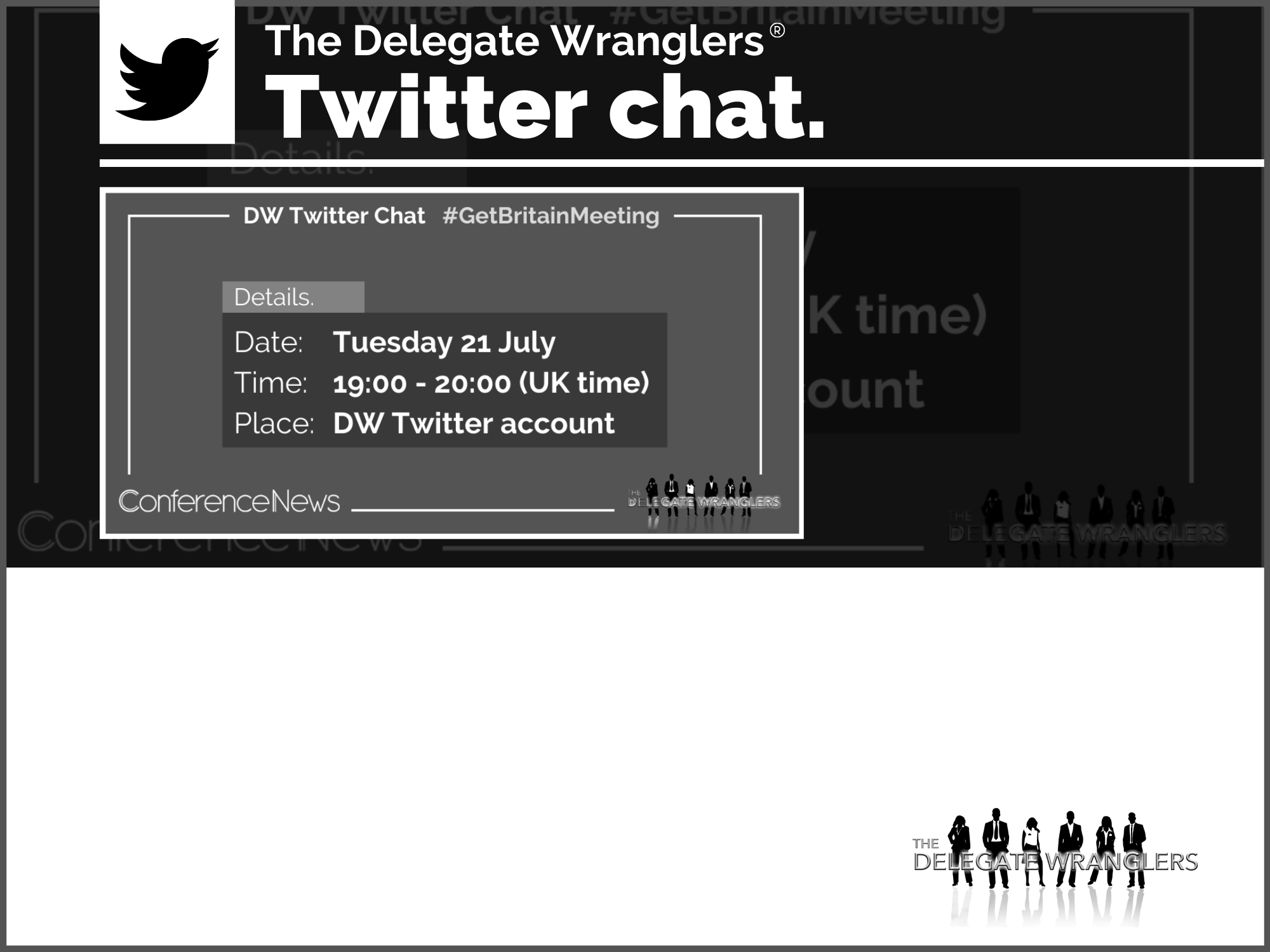 First ever DW Twitter Chat - Tues 21 July @7pm