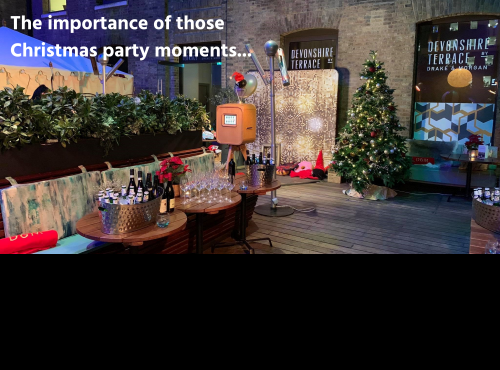 The importance of those Christmas party moments...